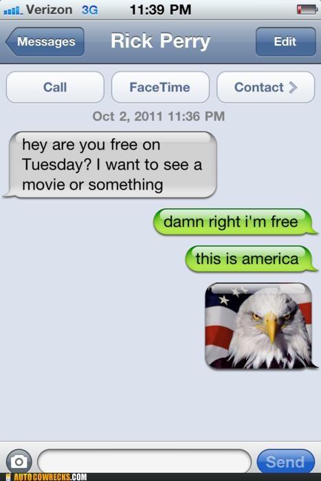 america freedom oh USA politics proud Rick Perry ron swanson - 5295758848