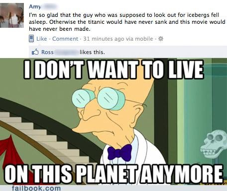 disaster facepalm farnsworth Movie titanic