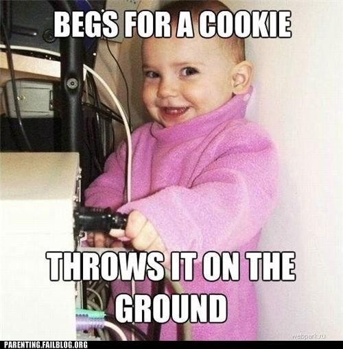 Babies,baby,cookies,food,meme,Parenting Fail,scumbag,scumbag baby