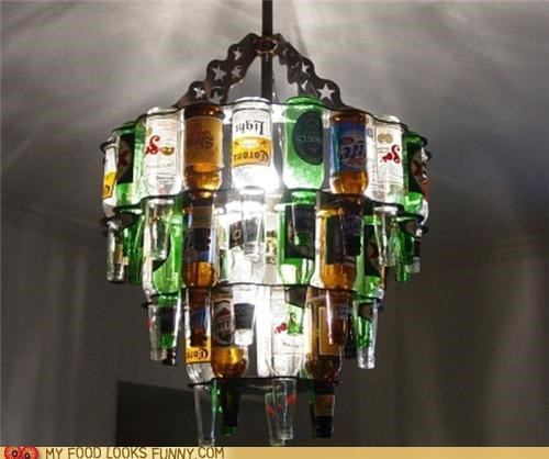 beer chandelier funny food photos