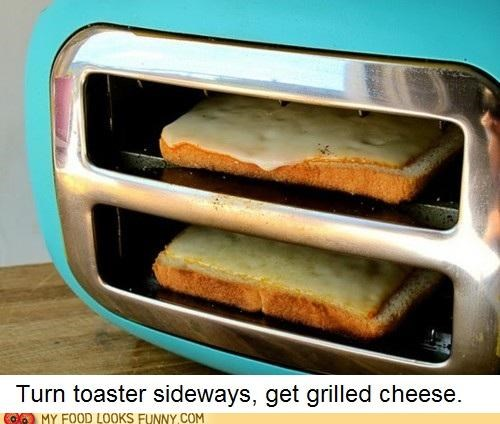 funny food photos grilled cheese toaster