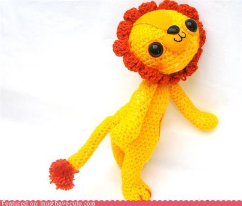 Amigurumi crochet cute lion lion king Plush smile - 5296072704