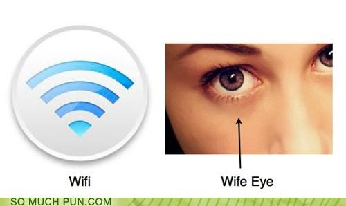 contrast,double meaning,eye,homophone,homophones,literalism,opposites,wife,wi-fi