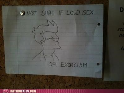 exorcism exorcist frye loud loud sex not sure if We Are Dating - 5296128768