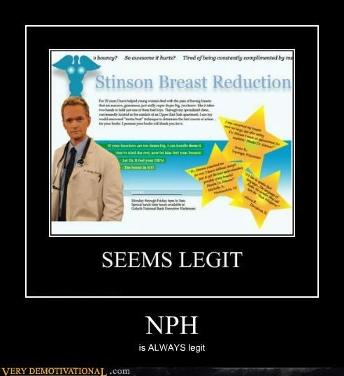 breast reduction hilarious how i met your mother nph