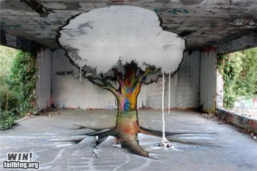 art,decay,graffiti,growth,perspective,Street Art,tree,urban,urban decay