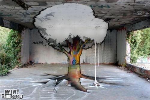 art decay graffiti growth perspective Street Art tree urban urban decay - 5296565760