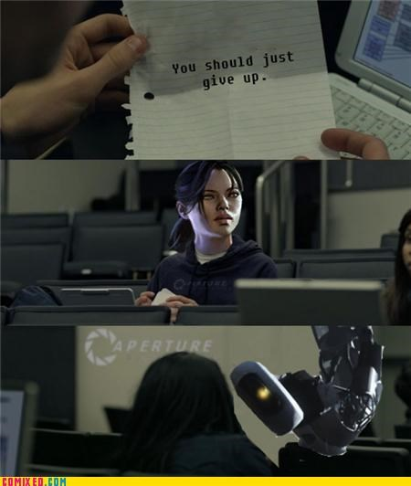 aperture science gladOS meme Portal the internets - 5296576512