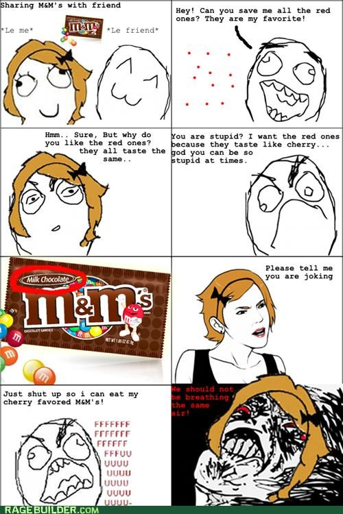 chocolate flavors mms Rage Comics - 5296623872