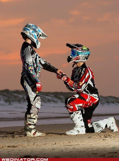 funny wedding photos Hall of Fame motocross motorcycles proposal racing