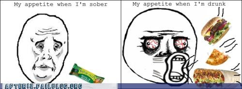drunk eating food munchies Rage Comics taco bell