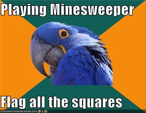 chess,games,Minesweeper,Paranoid Parrot,stalemate,video games