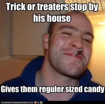 fun size Good Guy Greg regular treat or treat - 5297173504