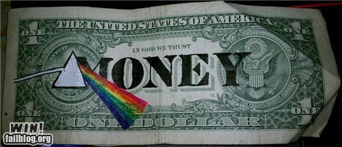 cash Dark Side of the Moon hacked irl light money pink floyd prism rainbow - 5297193472