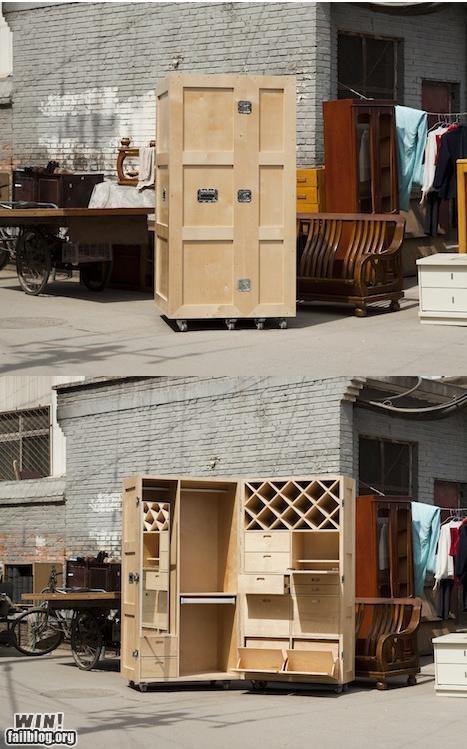 compact design drawer dresser furniture hidden - 5297399040