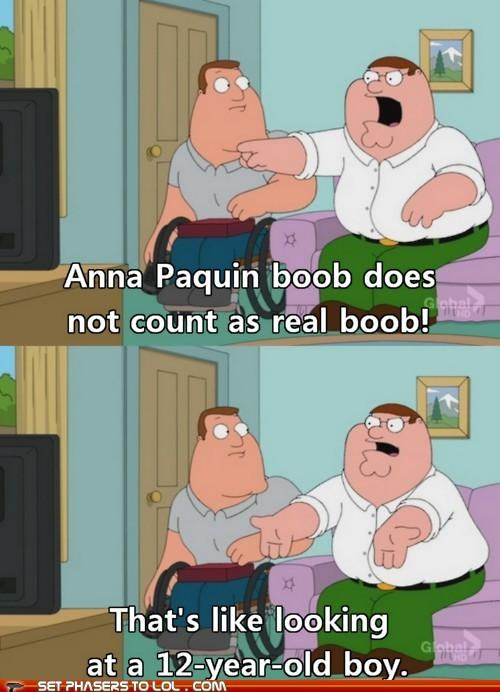 anna paquin,boobs,family guy,Peter Griffin,true blood
