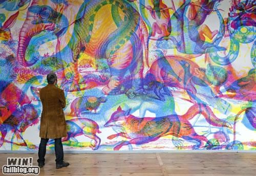 All the Colors of the Rainbow art color installation light mural painting pretty colors RGB wall - 5297527808