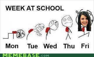 class,FRIDAY,Rebecca Black,school,weeks