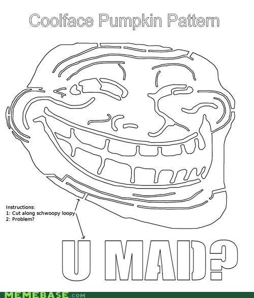 cut halloween pattern problem pumpkins troll face - 5297768704