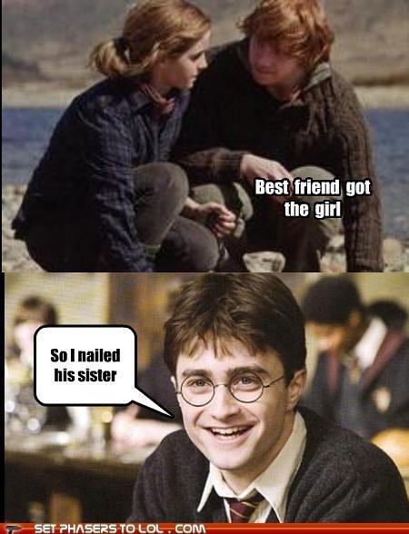 best friend Daniel Radcliffe emma watson girl Harry Potter hermione granger Ron Weasley rupert grint sister - 5297892352