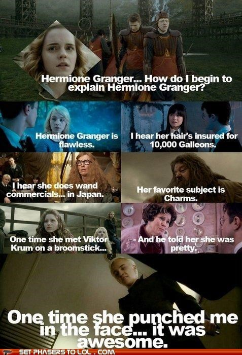 draco malfoy,Harry Potter,hermione granger,Hogwarts,mean girls