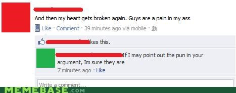 buttsecks facebook ouch pain in the butt pun - 5298052096