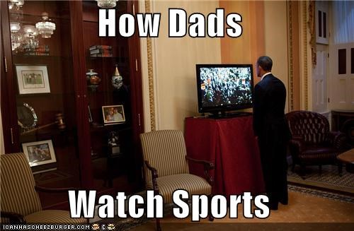 How Dads Watch Sports