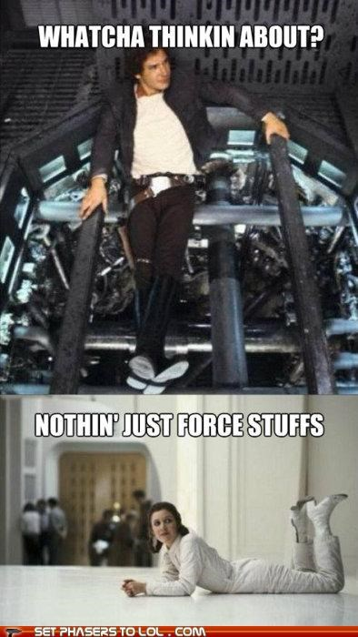 carrie fisher force Han Solo Harrison Ford Princess Leia star wars whatcha thinkin about - 5298136064