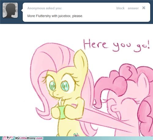 art,cute,fluttershy,juicebox,pinkie pie