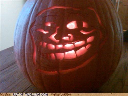 IRL jack o lanterns pumpkins troll face - 5298423552