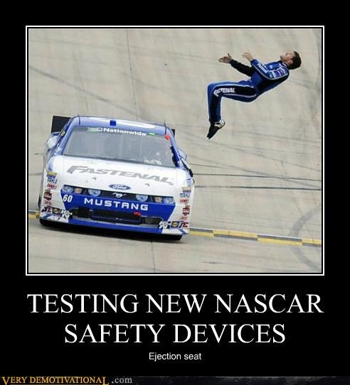 ejection hilarious nascar safety testing