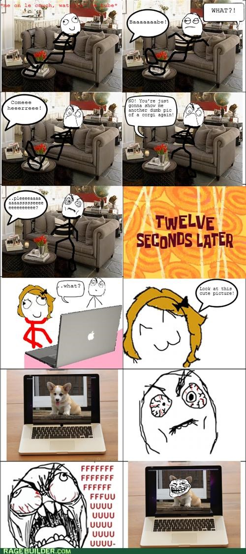 annoying,corgi,girlfriend,Rage Comics