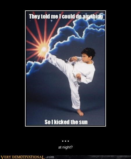 hilarious karate kicking kid sun - 5299020800