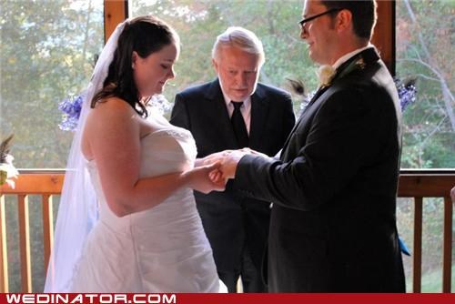 bewbs bride funny wedding photos minister - 5299024384