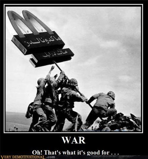 hilarious McDonald's soldiers war - 5299233536