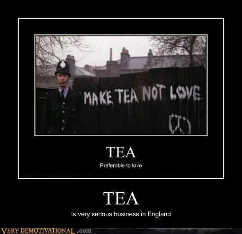 TEA Is very serious business in England
