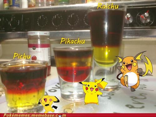 21 best of week drinks IRL pichu pikachu raichu shots thedrunkenmoogle