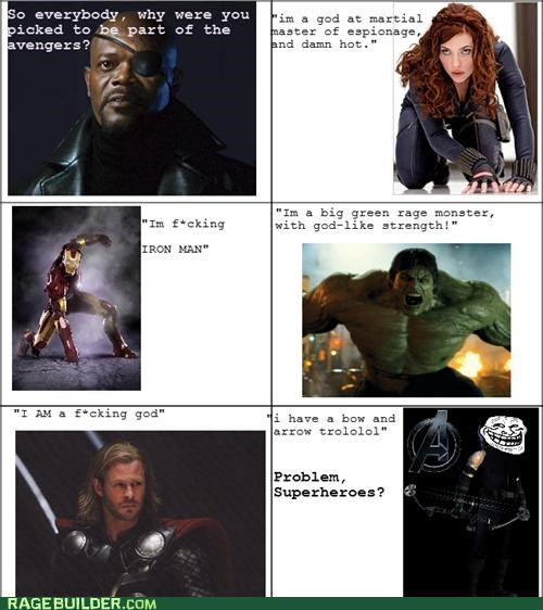 avengers Black Widow bow-arrow hawkeye hulk iron man Movie Nick Fury Super-Lols Thor - 5299641344