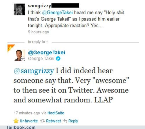 awesome,george takei,twitter,win