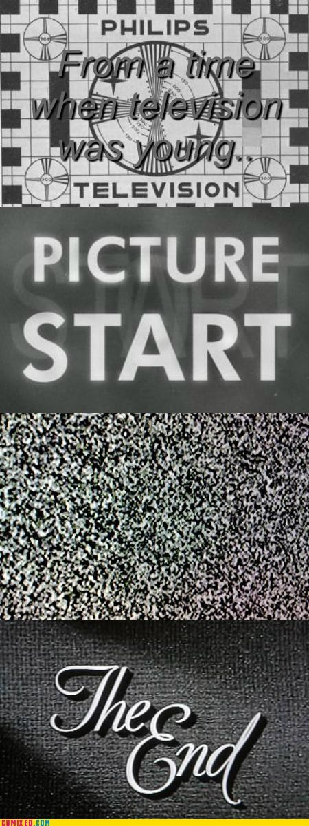 good old day picture start static television TV - 5299699200