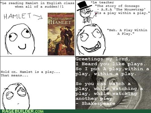 hamlet Inception playception Rage Comics shakespeare - 5299776512