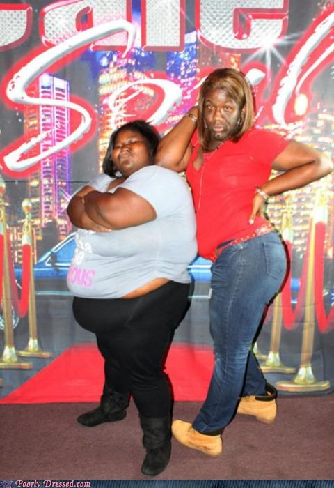 ghetto photo shoot red carpet trashy