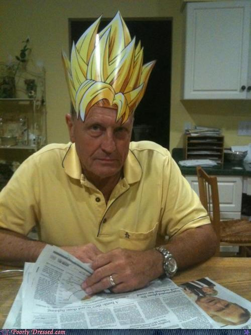 dad,dragon ball,Dragon Ball Z,old,parenting,super saiyan