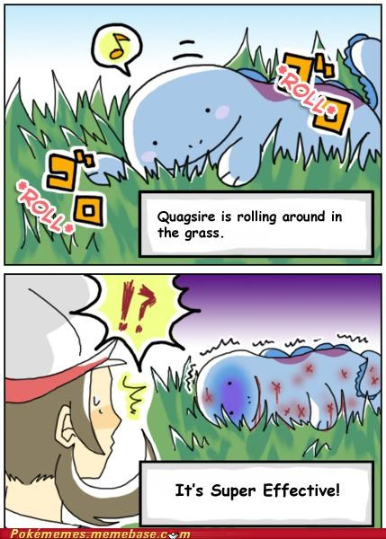 best of week comic grass ground quagsire super effective type advantage water - 5300105216