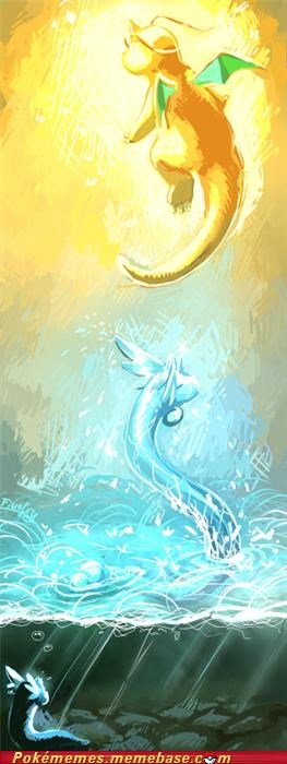 art dragon type dragonair dragonite dratini - 5300114688