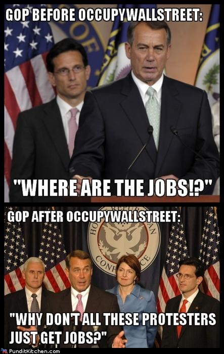 GOP,jobs,Occupy Wall Street,political pictures,Republicans