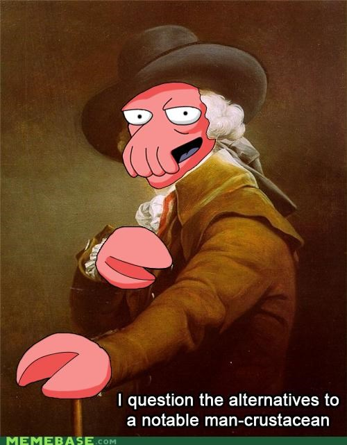 crustacean futurama Joseph Ducreux why not zoidberg - 5300402432