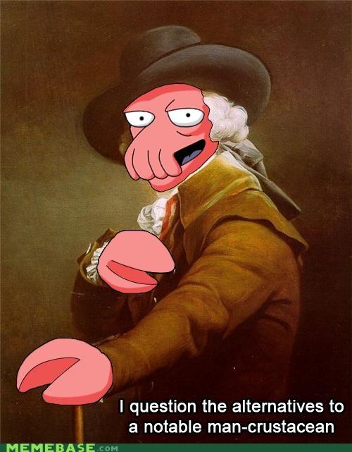 crustacean futurama Joseph Ducreux why not zoidberg - 5300402432