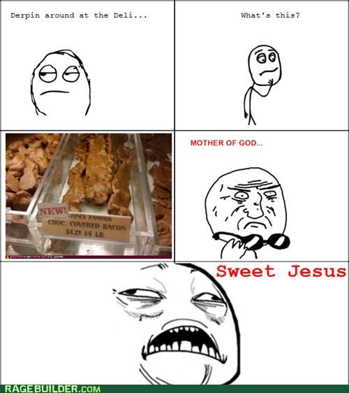 awesome bacon chocolate noms Rage Comics - 5300493568