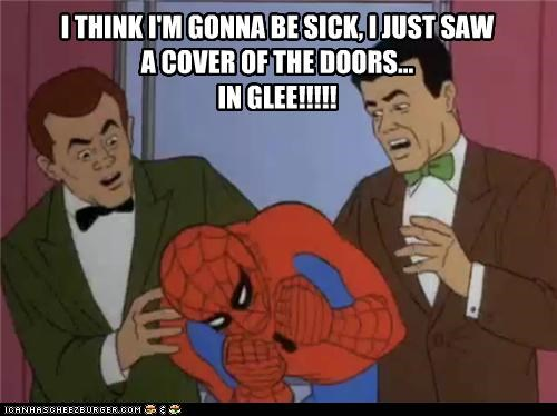 doors glee scary sick Spider-Man Super-Lols - 5300576512